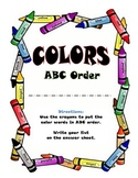 Crayons and Colors ABC Order