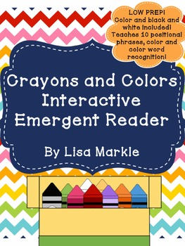 Crayons and Colors Interactive Emergent Reader for Preschool and Kindergarten
