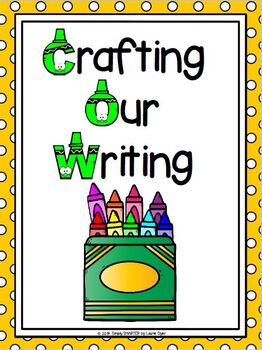 Crayons in a Crayon Box Writing Cut and Paste Craftivity