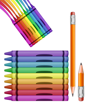 Crayons and Pencils Clip Art