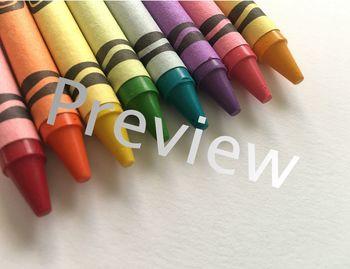Crayons and Pencils Stock Photos