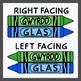 Crayons in Cornish / Cornish Language Colors (High Resolution)