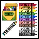 Crayons in Danish