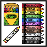 Crayons and Colors in INDONESIAN Printables