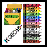 Crayons in Scottish Gaelic (over 100 images)