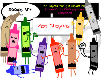 Crayons that Quit Clipart Pack