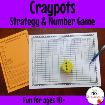 Craypots - Mathematics Strategy and Number Game