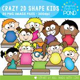 Crazy 2D Shape Kids Clipart