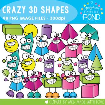 Crazy 3D Shapes Clipart