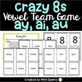 Crazy 8's with vowel teams--ai, ay and au
