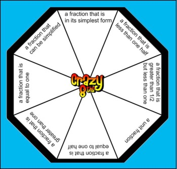 5th Grade Fractions: Crazy 8ths