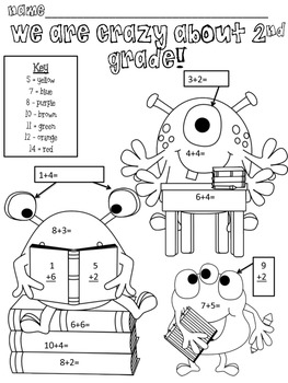 Crazy About 2nd Grade- Free!