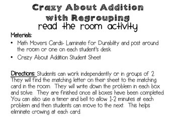 Crazy About Addition with Regrouping