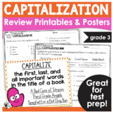 Capitalization Test Prep Print and Go- Cooking Up Capitalization