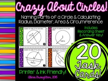 Crazy About Circles: Task Cards!