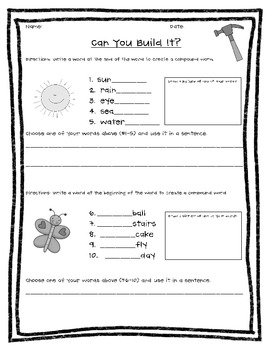 Crazy About Compound Words-A Literacy Packet