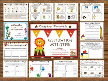 Crazy About Consonants: Alliteration Activities