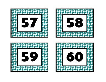 Crazy About Houndstooth! (Teal) - Calendar, Alphabet & Number Line Set