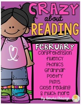 Crazy About Reading February- NO PREP ELA Essentials