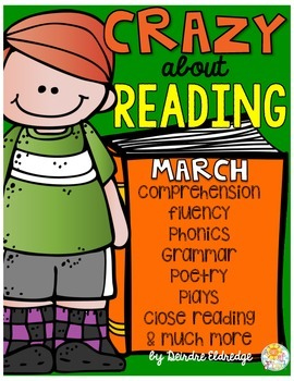 Crazy About Reading March- NO PREP ELA Essentials