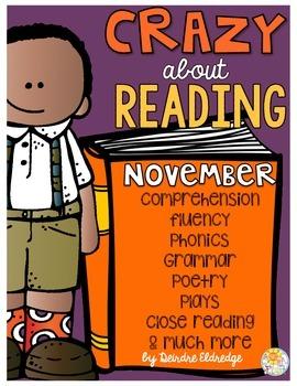 Crazy About Reading November- NO PREP ELA Essentials