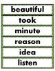 Crazy About Reading Sight Words Test and Word Wall Cards (Set 4)