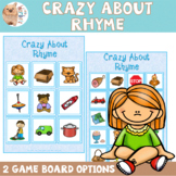 Crazy About Rhyme - Rhyming Game / Activity - Rhyming Words