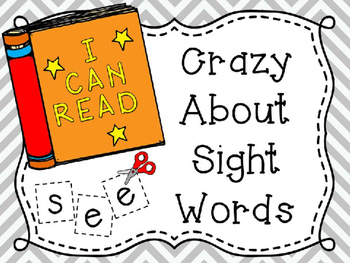 Crazy About Sight Words...Focus on To