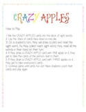 Crazy Apples - Sight Words Game