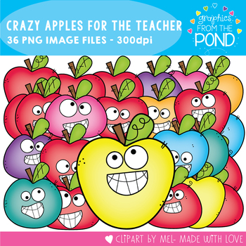 Crazy Apples for the Teacher Clipart