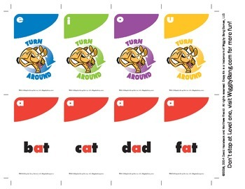 Crazy A's - Level 1 - English Phonics Reading Game.