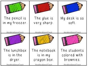 Crazy Back to School Sentences