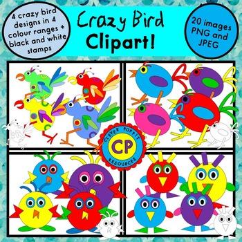 Crazy Bird Clipart