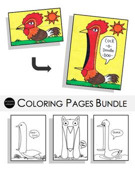 Birds Coloring Pages Bundle
