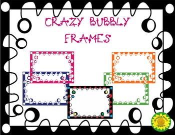 Crazy Bubbly Frames-Clipart