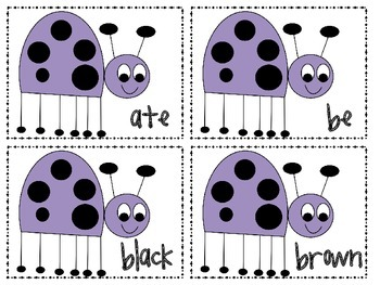 Crazy Bugs Sight Word Game (Dolch Primer)