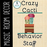 Crazy Cacti Music Room Theme - Behavior Staff, Rhythm and Glues