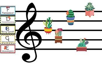 Crazy Cacti Music Room Theme - Behavior Staff, Rhythm and Glues