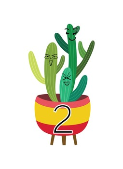 Crazy Cacti Music Room Theme - Cabinet Labels, Rhythm and Glues