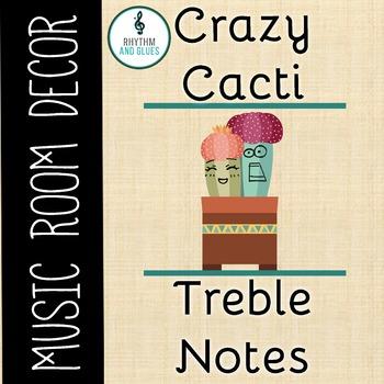 Crazy Cacti Music Room Theme - Treble Notes, Rhythm and Glues