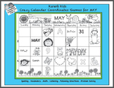 Crazy Calendar Coordinates Games for May