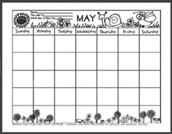 Crazy Calendar Coordinates Games for May