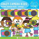Crazy Camera Kids Clipart