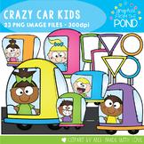 Crazy Car Kids Clipart