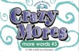 """Crazy Cards! (Crazy Mores: Deck #3 - """"ou/ow, oi/oy, au/aw"""")"""