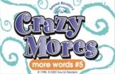 "Crazy Cards! (Crazy Mores: Deck #5 - ""ink/ank, ing/ang, tu"