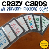 Crazy Cards - Equivalent Fractions, Decimals and Percentages