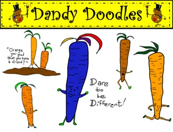Crazy Carrot Freebie Clipart by Dandy Doodles