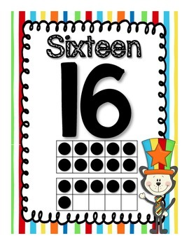 Crazy Cat Theme Number Posters and Bunting Banners