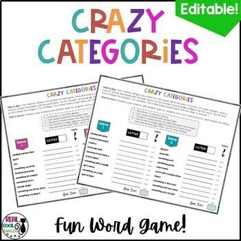 Crazy Categories Word Games